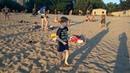 Малишня зажигає на пляжі Little boy dancing on a beach Будь в позитиві завжди