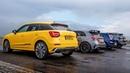 Audi SQ2 против AMG A35, Golf R и Cupra Ateca