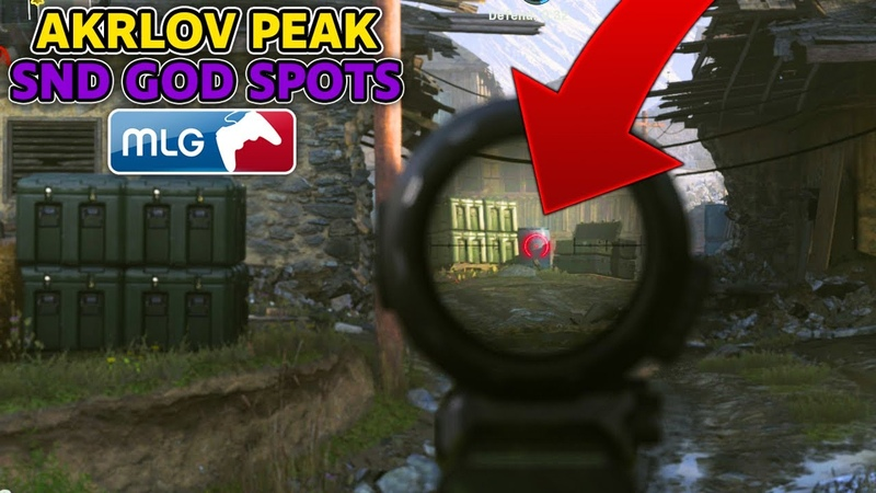 SnD GOD SPOTS on AKRLOV PEAK! (COD MW Best Competitive SnD Plant Spots) Call of Duty Modern Warfare
