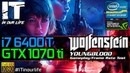 Wolfenstein Youngblood I7 6400t GTX 1070 ti Gameplay Frame Rate Test 1080p