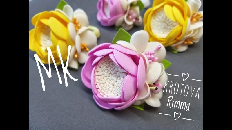 Резиночки для волос простые цветы из фоамирана резиночки для волос из фоамирана Легко и просто