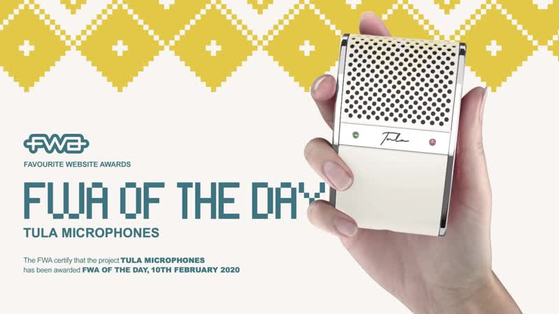 Tula microphones — FWA Of The Day!