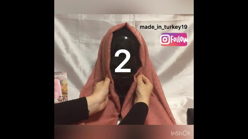 2 базовых способа завязать палантин хиджаб