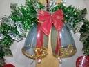 CAMPANAS en corona navideña con botellas de plastico