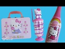 HELLO KITTY Lunch Box, Gum Ball Machine Cup, Bottle of Bubble Berry Drink