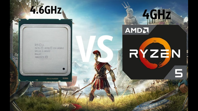 Assassin's Creed Odyssey Ryzen 5 2600 4GHz vs i7 4930K(xeon e5 1650v2) 4.6GHz