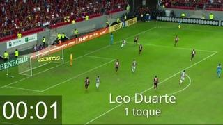 Everton Ribeiro rege, e Fla tem 50 toques em 57 segundos até o gol de Felipe Vizeu
