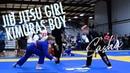 Jiu Jitsu Girl Vs Boy at FUJI BJJ