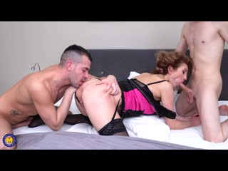 Mature Julia North loves a threesome with some double penetration [2020, Anal, DP, Mature, MILF, Threesome, Ass Licking, 1080p]