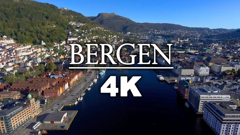 B E R G E N f r o m A B O V E - 4K Autumn Drone Movie