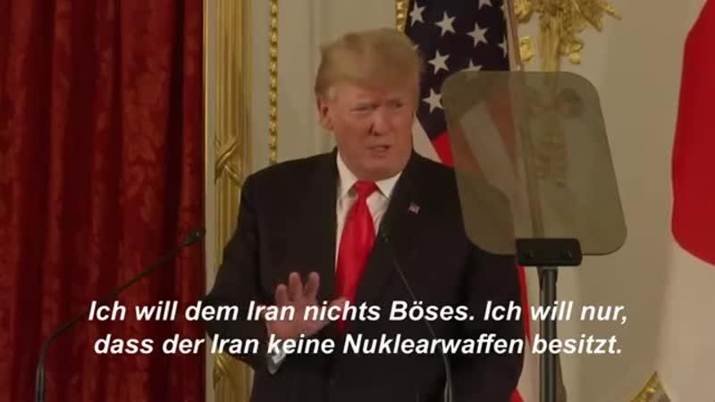 Trump Vereinigte Staaten wollen keinen Führungswechsel im Iran