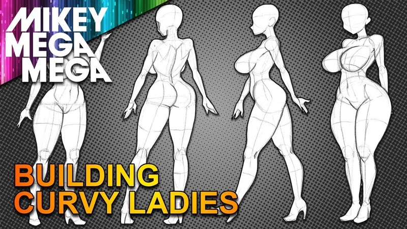 CURVY ANIME GIRL POSES FROM BASIC SHAPES How To Draw