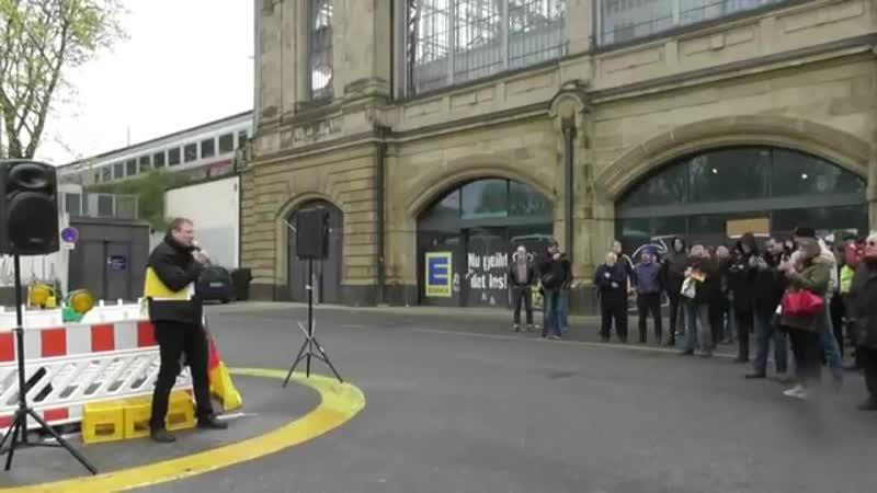 MICHAEL STÜRZENBERGER : Patrioten-Demo im links-moslemisch unterwanderten Hamburg - Rede Stürzenberger