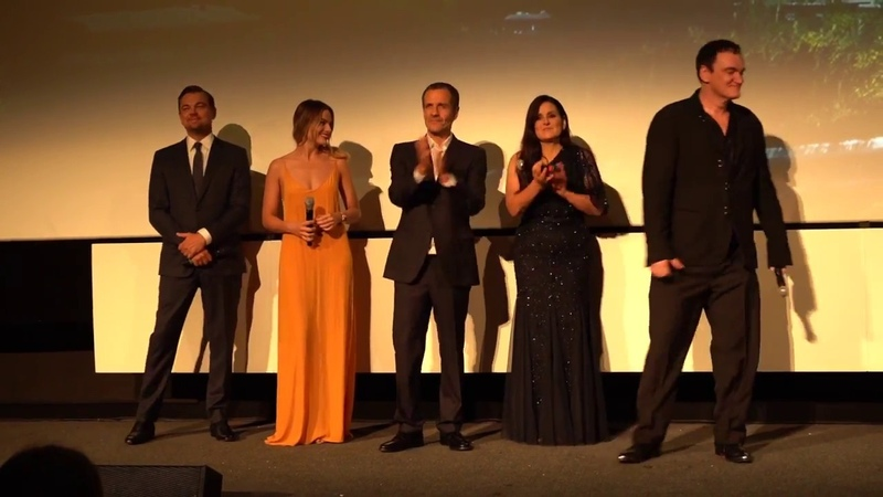 Once Upon a Time in Hollywood Rome Premiere Screening Intro B Roll