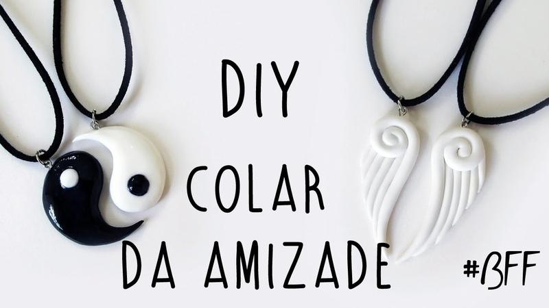 DIY COLAR DA AMIZADE - Pingente Asas de Anjo Yin Yang (Friendship Necklace Charms) diyamizade