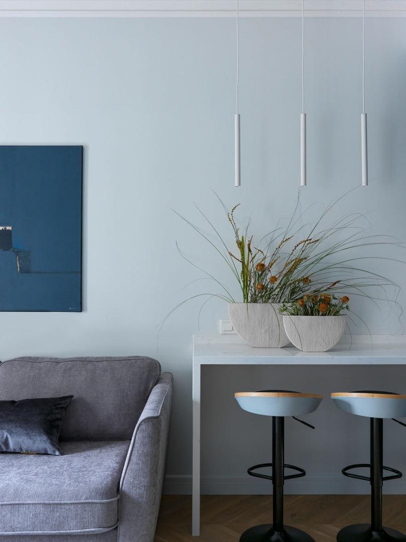 Квартира с графичным интерьером, 40 м² от Екатерины Пульковой и Марии Игнатовой