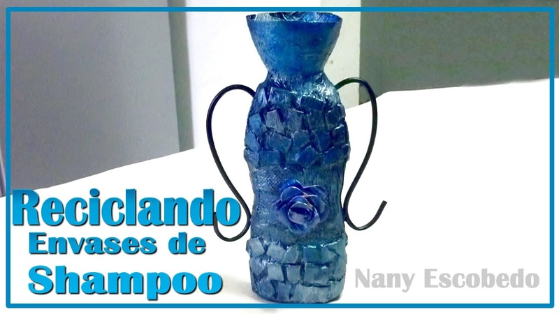 RECICLANDO ENVASES DE SHAMPOO