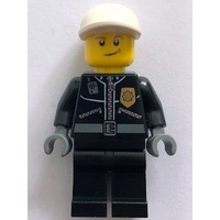 1 LEGO Minifigure City Helicopter Pilot Female Leather Jacket with Gold Badge
