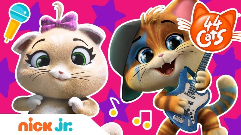 44 Cats 🐱 Happiness Concert Sing Along 🎤 w Lampo Pilou Milady Meatball Nick Jr