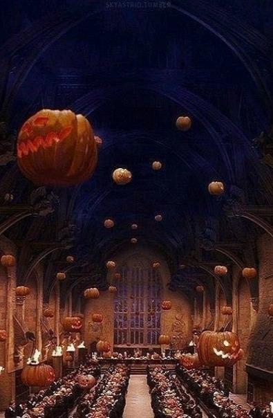...Сотни тыкв светились зажжёнными внутри свечами, под затянутым тучами потолком парила стая летучих мышей, змеились молниями ярко-оранжевые транспаранты.