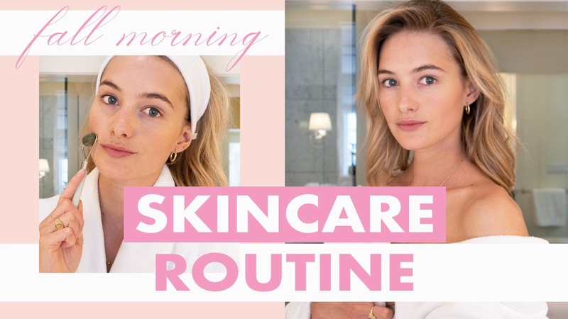Fall Morning Skincare Routine | Model Skincare Hacks, Properly Hydrated Skin, No Makeup Makeup |