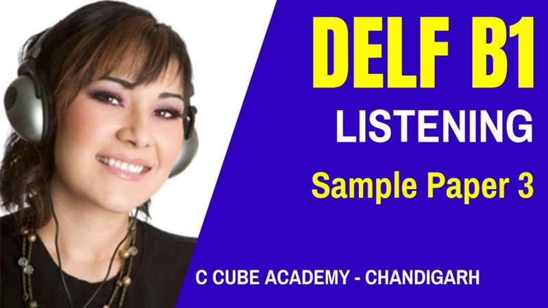 DELF B1 Comprehnsion Orale Sample Paper 3 Listening Test Practice Exercises B1