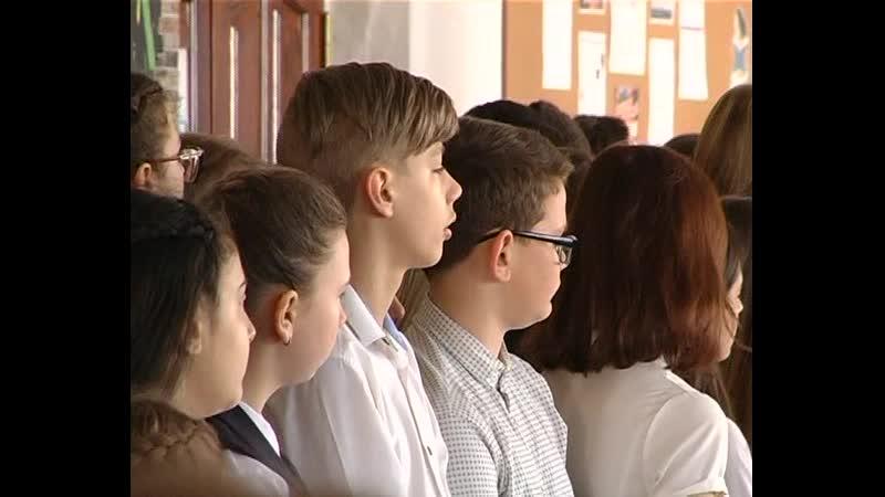 В минувшую пятницу в Комсомольской пятой школе состоялась линейка посвященная 5 й годовщине суверенности ДНР