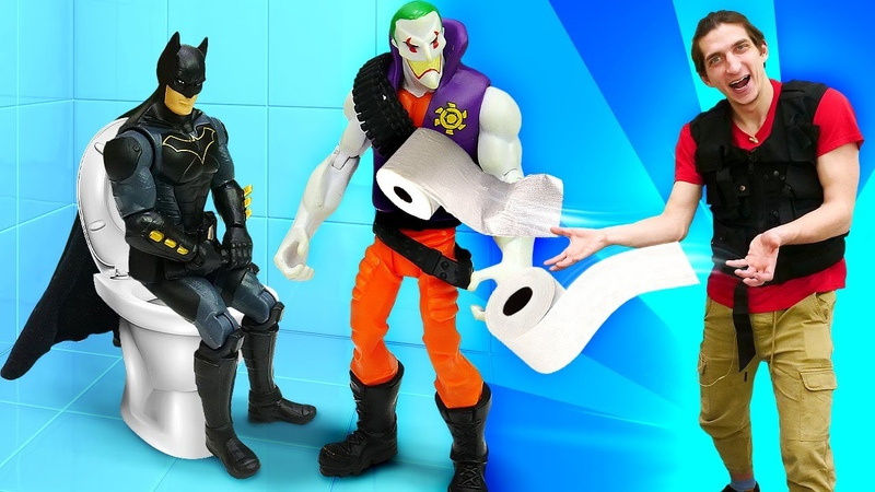 Видео – Подарок БЭТМЕНУ от Джокера! Перезагрузка для Супергероев! –Новые игры для мальчиков