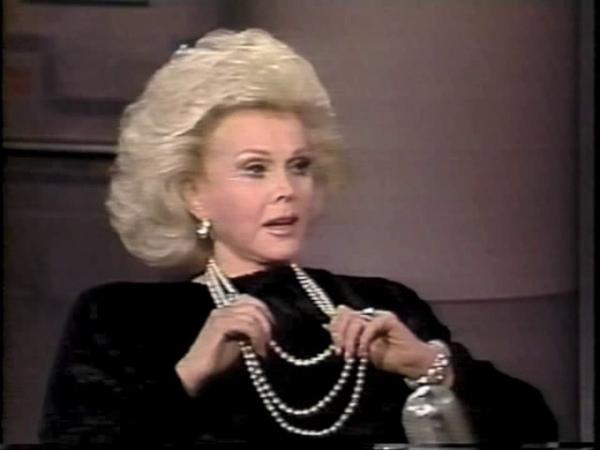 Zsa Zsa Gabor on Letterman February 11 1987