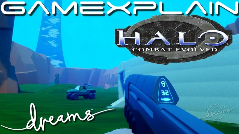 Halo in Dreams! Blood Gulch Recreation with Driveable Warthog (Bonus Metroid Prime Style Game)