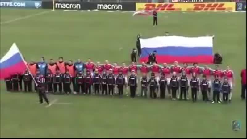 Наши спортсмены исполнили гимн СССР!