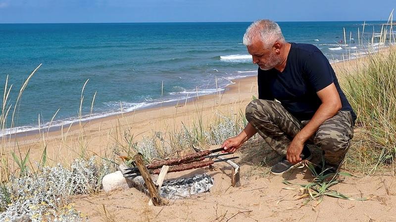 DOĞADA BEYTİ KEBAP YAPTIM How To Make Skewer Cook BEYTI KEBAB In The Nature