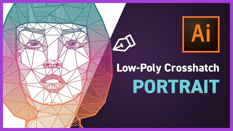 Low poly Crosshatch Vector Design with Adobe Illustrator CC