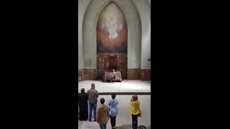 Фрагмент концерта в Лумиваарской кирхе для группы ПРИЕЗЖАЙТЕ В ЛАХДЕНПОХЬЯ.