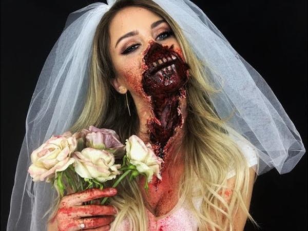 Ripped Mouth ZOMBIE Bride Makeup / Nadine Mayerhofer