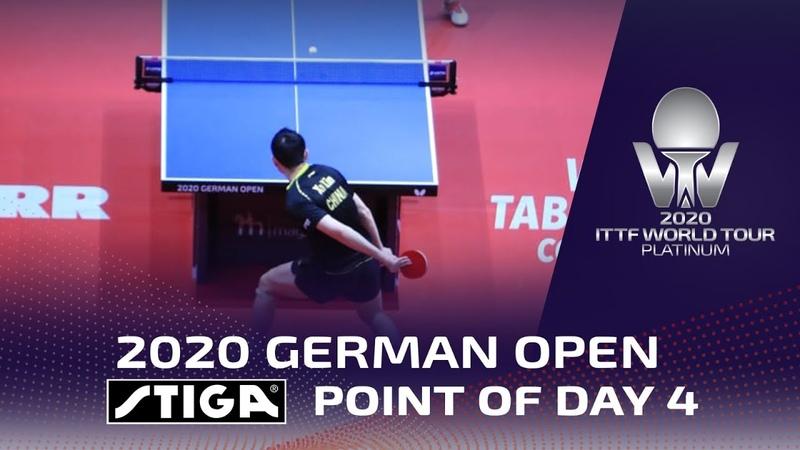 Xu Xin wins STIGA Point of Day 4 2020 German Open