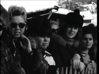 Men's Slalom Event At Kitzbuehel International Ski Meet (1965)
