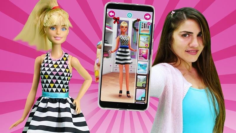 Barbie giyim oyunu. Ümit Barbieye iş görüşmesi için uygulamadan stil arıyor