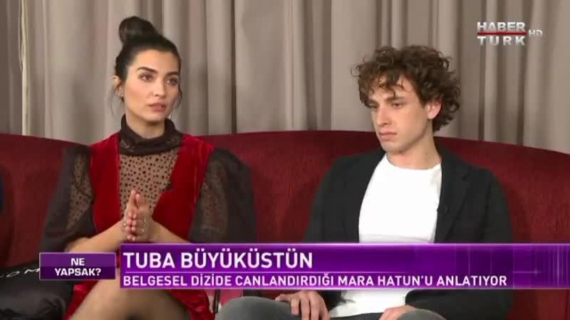 RiseofEmpiresOttoman ekibi Habertürk Ne Yapsak - 24 Ocak 2020 TubaBüyüküstün röportaj 1 ️