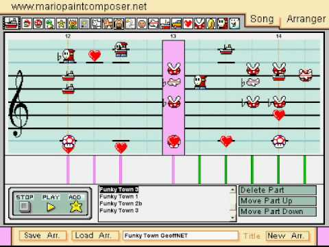 Funky Town Mario Paint Composer