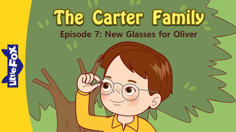 The Carter Family 7 | New Glasses for Oliver | Family | Little Fox | Animated Stories for Kids
