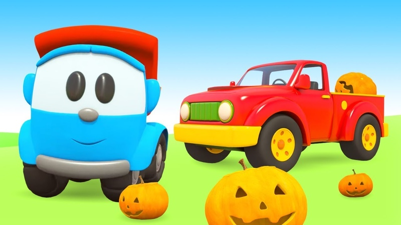 Caminhonete do Halloween Léo o caminhão Animação infantil