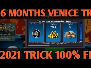 6 MONTHS FREE VENICE  TABLE TRICK 2021 100% FREE FOR ALL