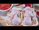 Чахохбили из курицы в казане с гарниром из картофеля