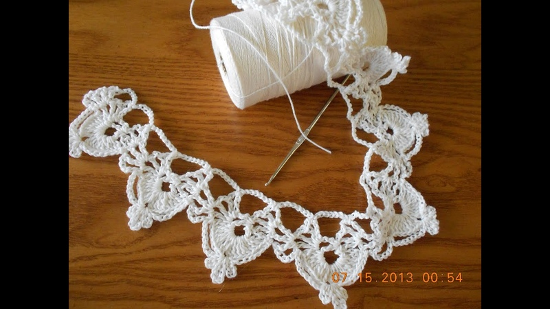 Orilla Crochet medias lunas