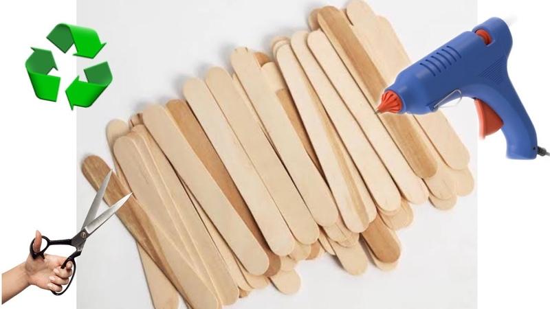 DONDURMA ÇUBUKLARI İLE YAPILABİLECEK 4 HARİKA FİKİR TOP 4 Popsicle Stick Craft Compilation