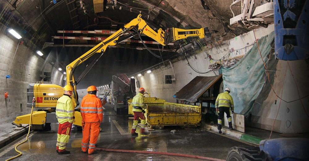 Роботы Brokk в подземном строительстве