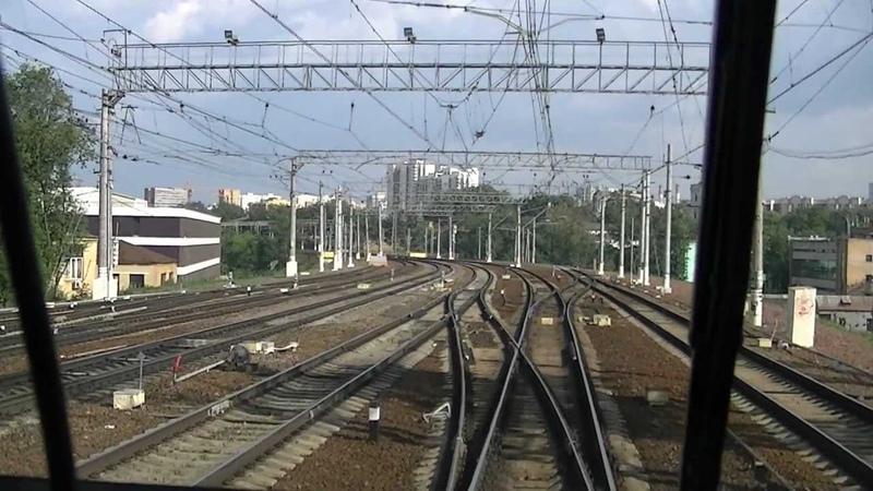 ЭД4мкм-0155 Отправление с Курского вокзала