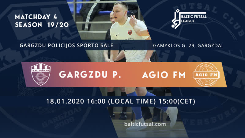 RUS Gargzdu Pramogos AGIO FM Matchday 4 Live stream