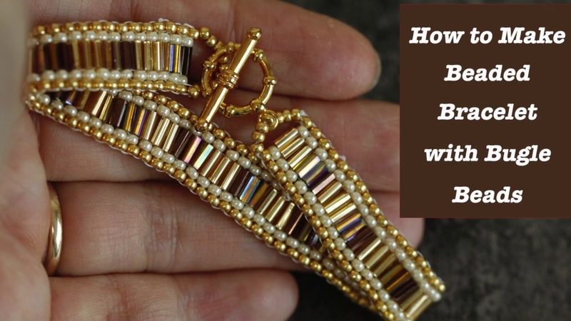 How to make beaded bracelet with bugle beads